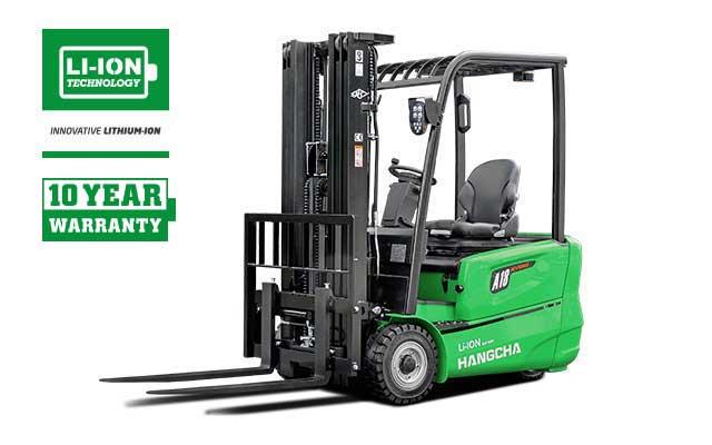 3-Wheel Li-ion Battery Forklift  3,200-4,000lbs
